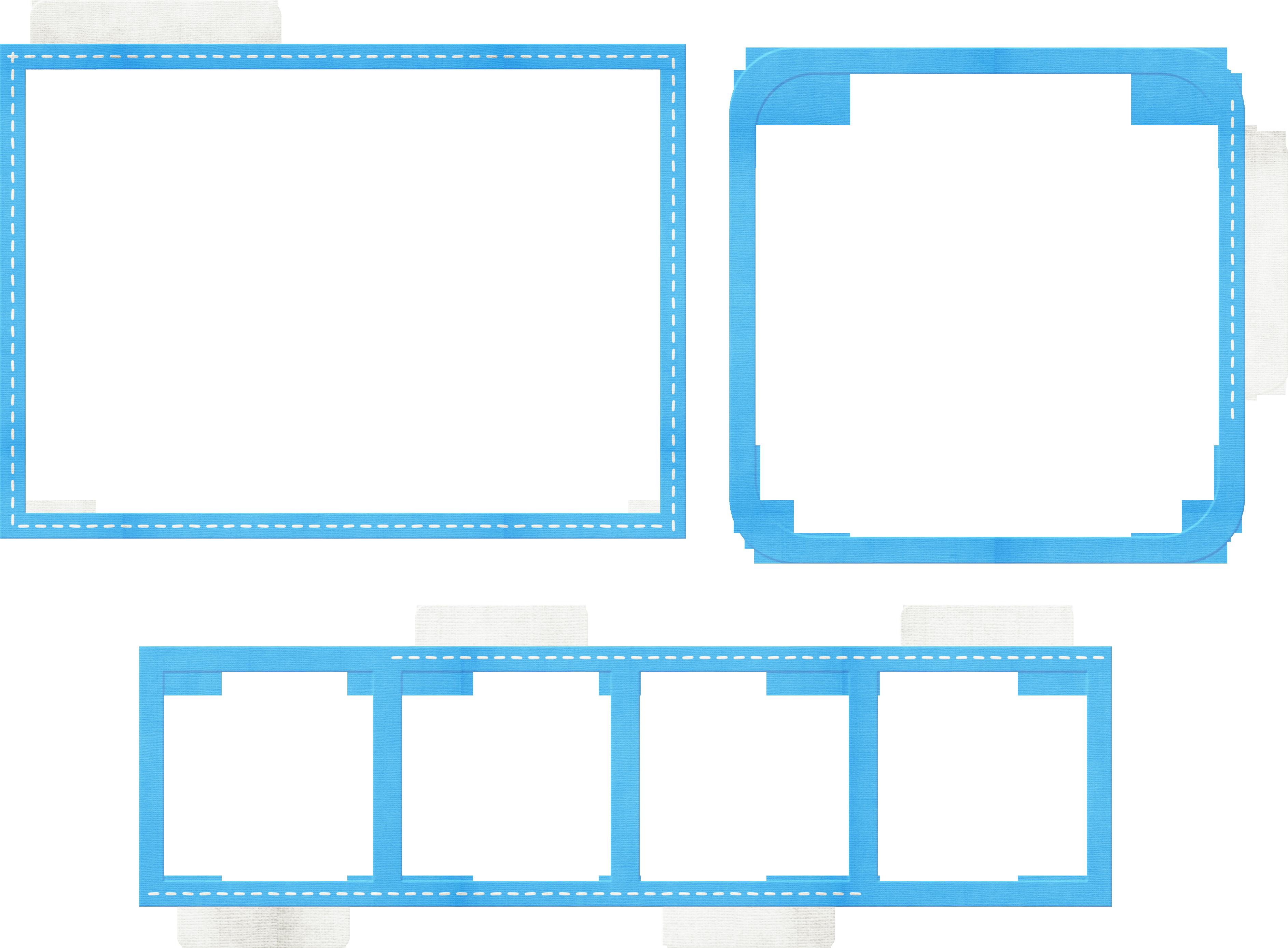 Lenagold - Клипарт - Синие рамки | 2774x3771