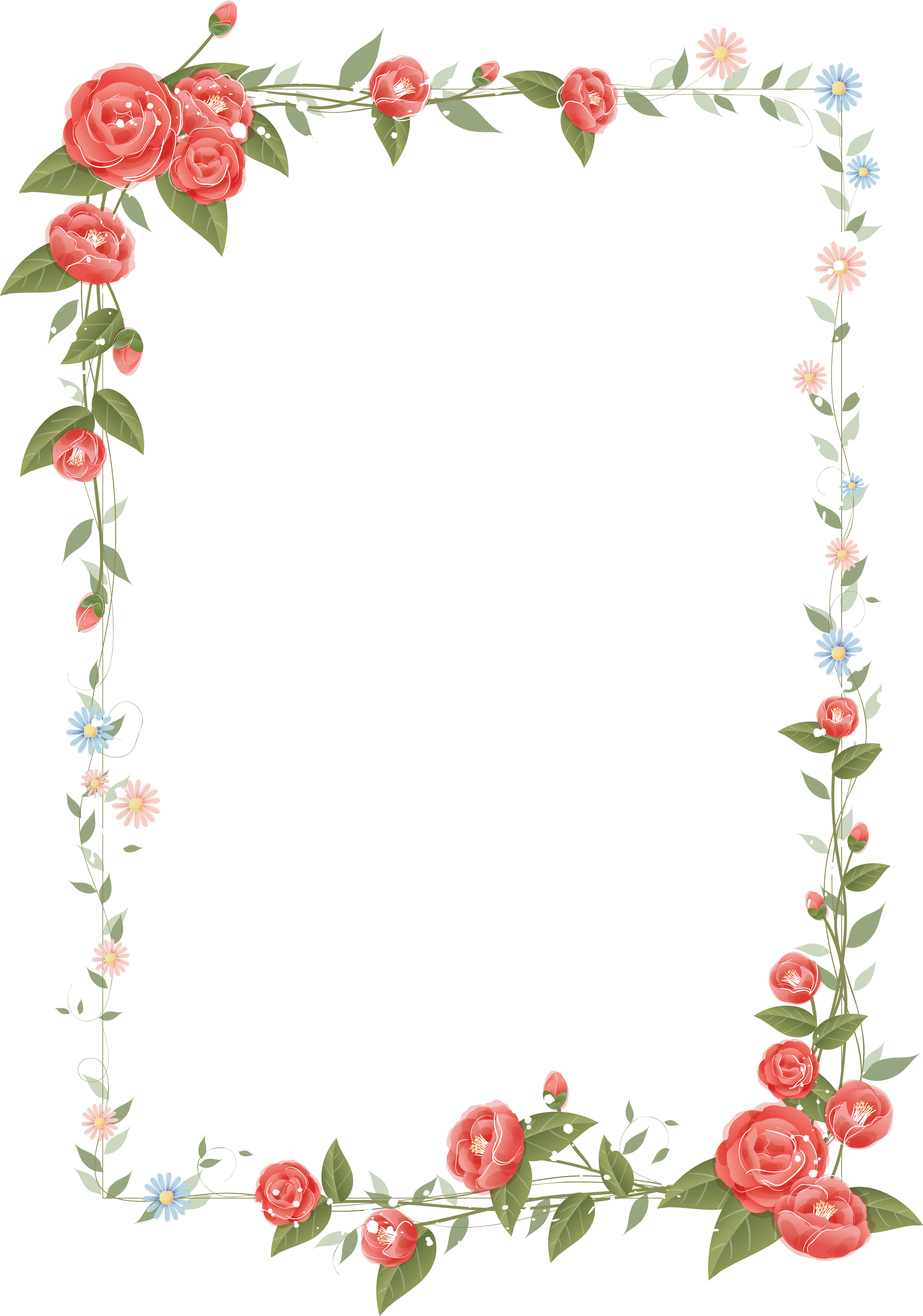 Рамка клипарт цветы