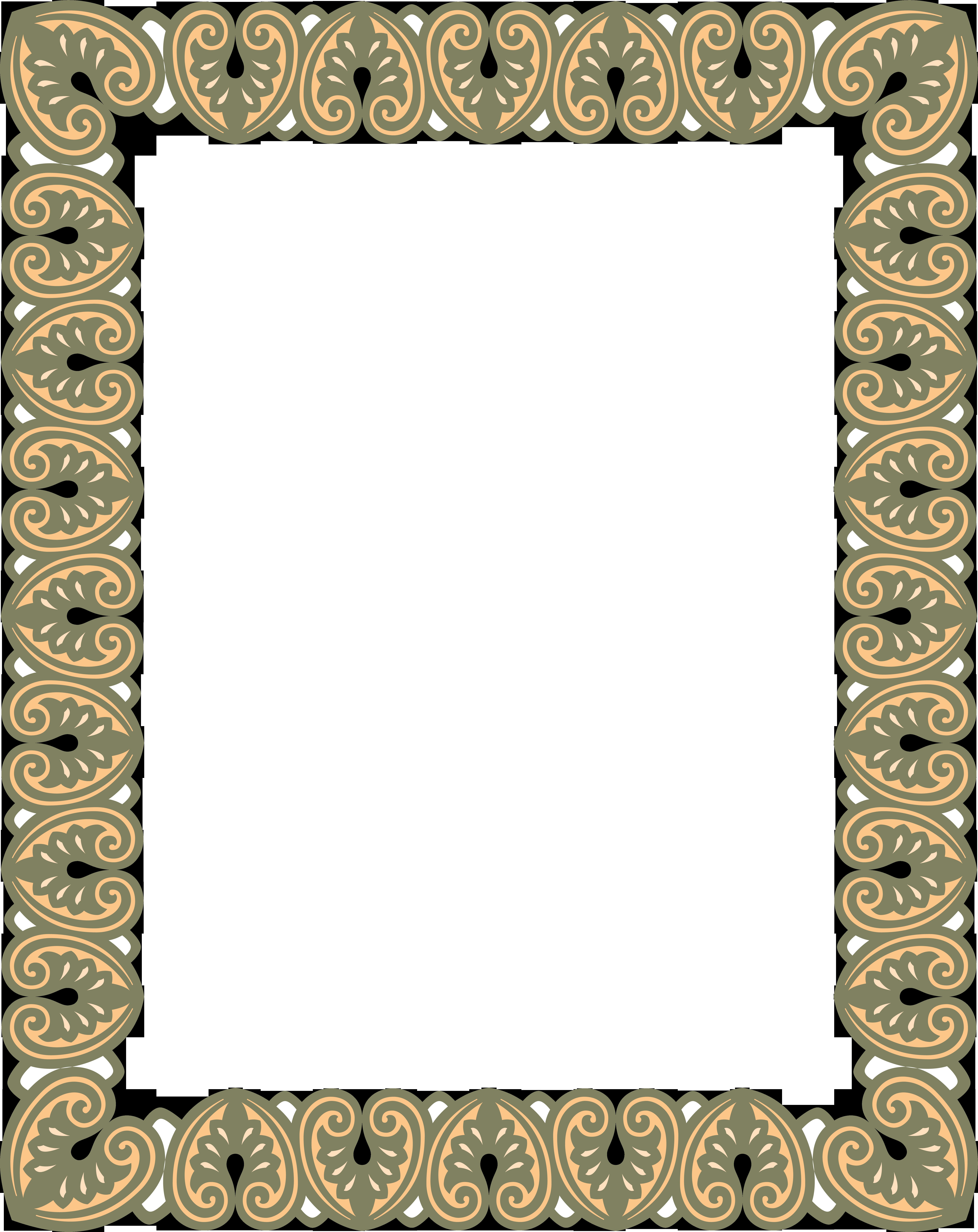 Рамки казахского орнамента в word