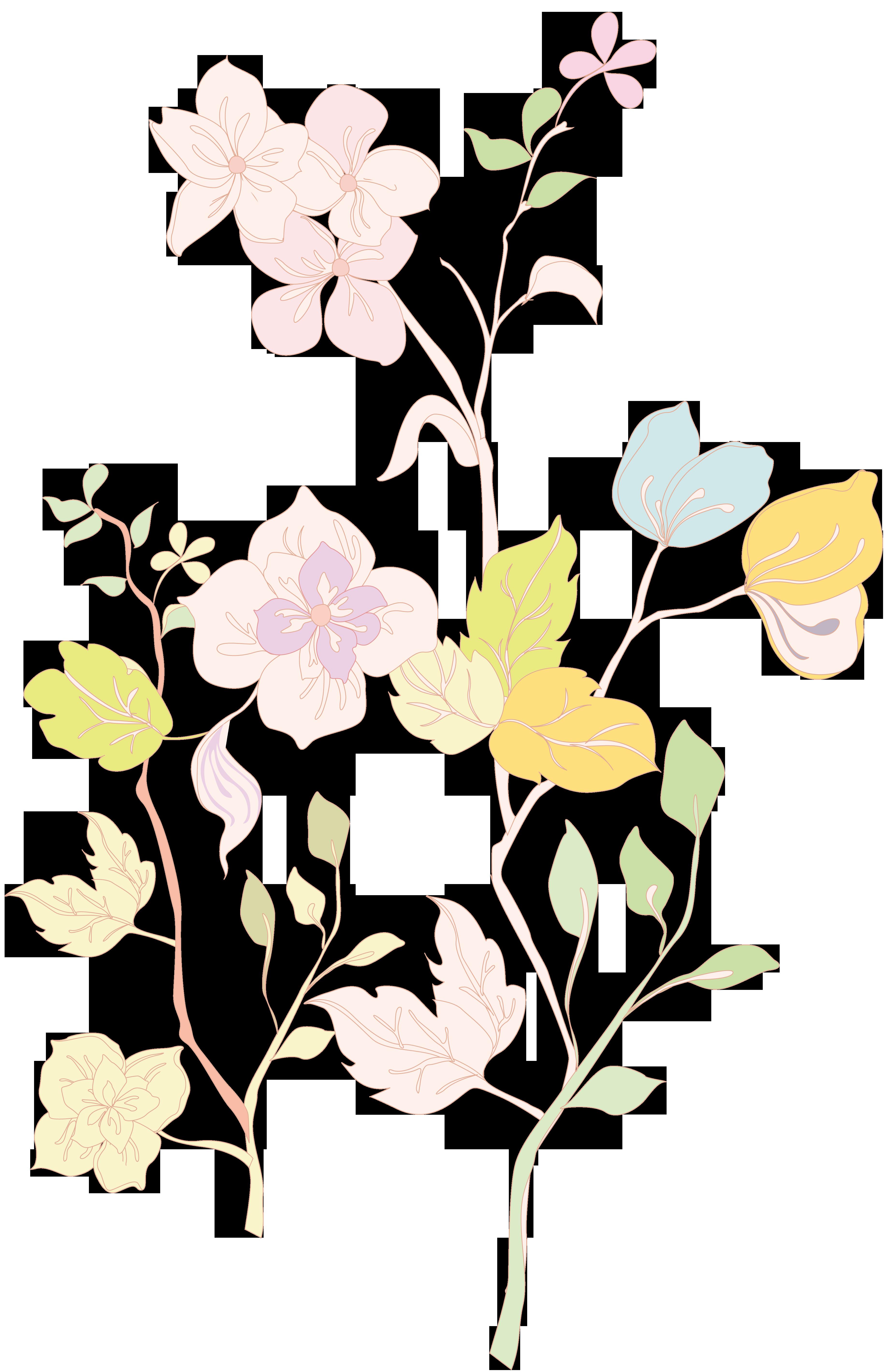 Lenagold клипарт желто красные цветы 3